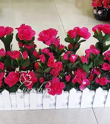Hoa lụa, hoa giả Uyên shop, Hàng Rào Hoa Đỗ Quyên
