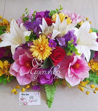 Hoa lụa, hoa giả Uyên shop, Hoa phòng họp đẹp