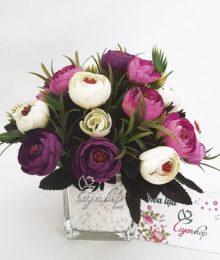 Hoa lụa, hoa giả Uyên shop, Lọ Trà xinh