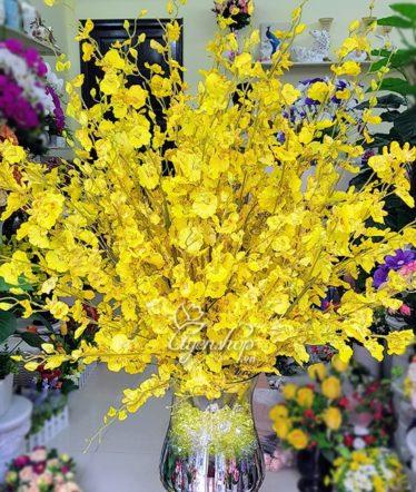 Hoa lụa, hoa giả Uyên shop, Rực rỡ sắc vàng