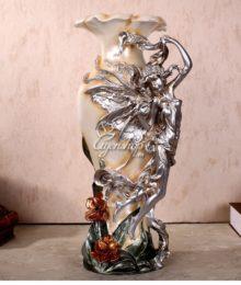 Hoa lụa, hoa giả Uyên shop, Lọ hoa nghệ thuật đẹp
