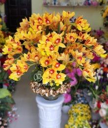 Hoa lụa, hoa giả Uyên shop, Bình Địa Lan sang trọng