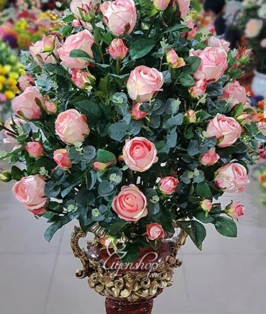 Hoa lụa, hoa giả Uyên shop, Bình Hồng Cao Cấp