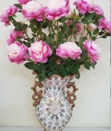 Hoa lụa, hoa giả Uyên shop, Bình hoa May mắn