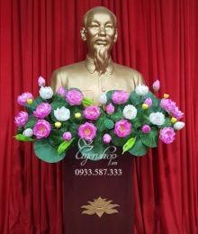 Hoa lụa, hoa giả Uyên shop, Hoa Tượng Bác đẹp