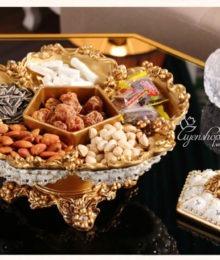 Hoa lụa, hoa giả Uyên shop, Khay đựng bánh kẹo