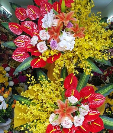Hoa lụa, hoa giả Uyên shop, Lãng hoa Lụa khai trương