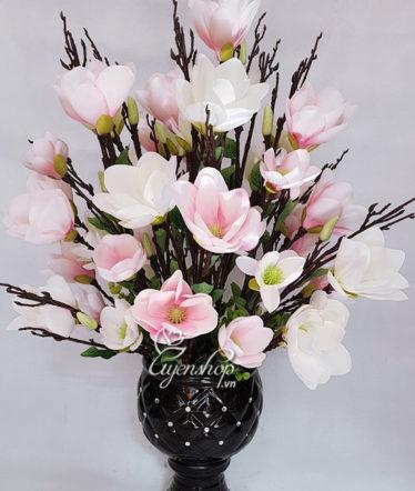 Hoa lụa, hoa giả Uyên shop, Mộc Lan hồng