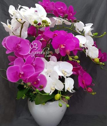 Hoa lụa, hoa giả Uyên shop, Sang trọng với Lan