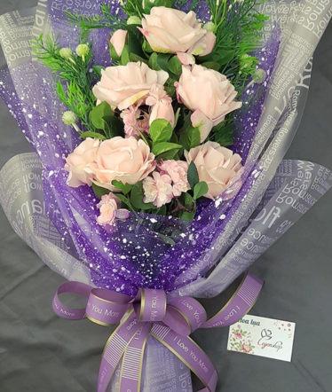 Hoa lụa, hoa giả Uyên shop, Bó hoa đẹp