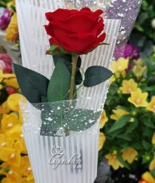 Hoa lụa, hoa giả Uyên shop, Bó hồng 1 bông xinh
