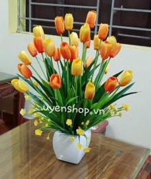 Hoa lụa, hoa giả Uyên shop, Rực rỡ cùng hoa Tulip