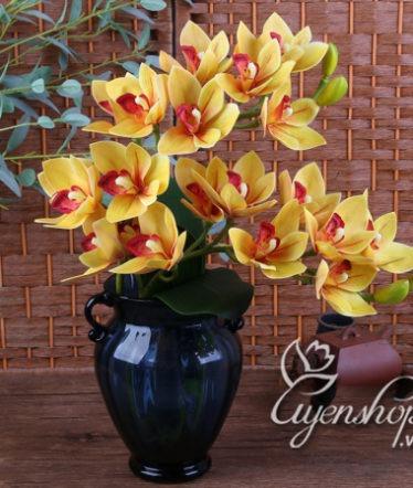 Hoa lụa, hoa giả Uyên shop, Bình địa lan nghệ thuật