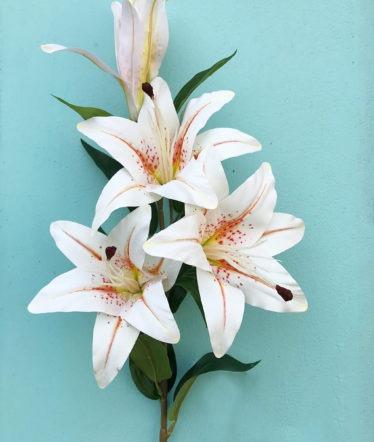 Hoa lụa, hoa giả Uyên shop, Cành ly đẹp cao cấp