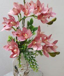 Hoa lụa, hoa giả Uyên shop, Hoa Lụa-Hoa Địa Lan hồng cao cấp