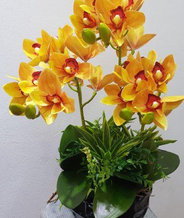Hoa lụa, hoa giả Uyên shop, Hoa Lụa- Hoa Địa Lan cao cấp