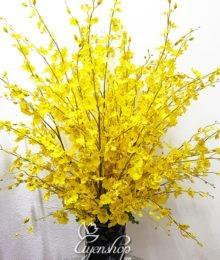 Hoa lụa, hoa giả Uyên shop, Hoa Lụa – Bình Lan Vàng