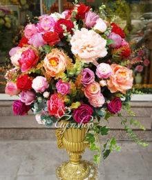 Hoa lụa, hoa giả Uyên shop, Kiêu sa sắc hồng