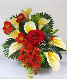 Hoa lụa, hoa giả Uyên shop, Hoa Lụa- Hoa Rum nghệ thuật