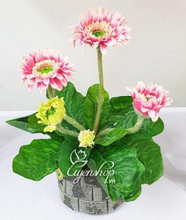 Hoa lụa, hoa giả Uyên shop, Hoa lụa – Cây đồng tiền