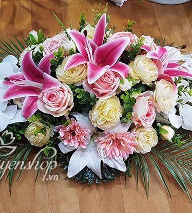 Hoa lụa, hoa giả Uyên shop, Hoa lụa – Hoa phòng họp