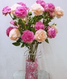 Hoa lụa, hoa giả Uyên shop, Hoa Lụa- Bình Hoa Hồng Trà Cao Cấp