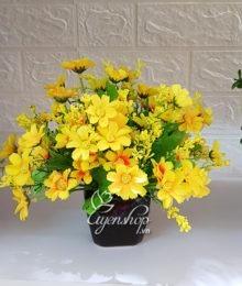 Hoa lụa, hoa giả Uyên shop, Lọ hoa xinh