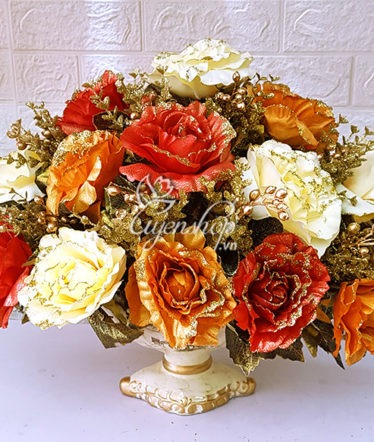 Hoa lụa, hoa giả Uyên shop, Thuyền hoa May mắn