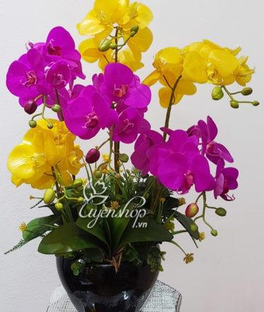 Hoa lụa, hoa giả Uyên shop, Bình Lan cao cấp