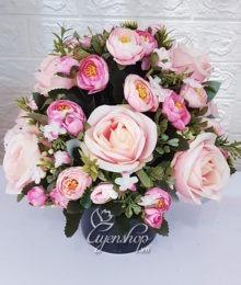 Hoa lụa, hoa giả Uyên shop, Bình Hồng xinh