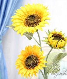 Hoa lụa, hoa giả Uyên shop, Cành Hướng Dương