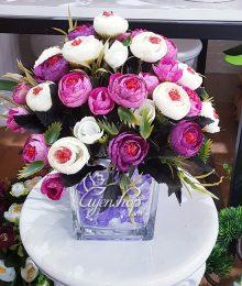 Hoa lụa, hoa giả Uyên shop, Hoa Trà xinh