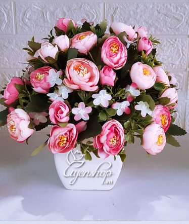 Hoa lụa, hoa giả Uyên shop, Hoa Trà Hồng xinh