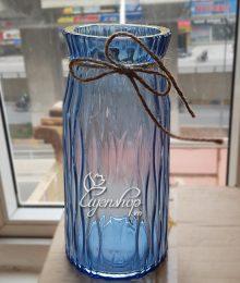 Hoa lụa, hoa giả Uyên shop, Lọ thủy tinh xanh