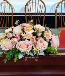 Hoa lụa, hoa giả Uyên shop, Hoa để bàn họp