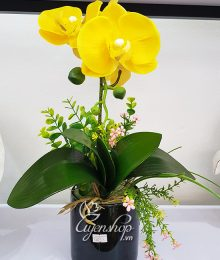 Hoa lụa, hoa giả Uyên shop, Bình Lan Vàng xinh