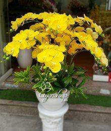 Hoa lụa, hoa giả Uyên shop, Lan vàng sang trọng