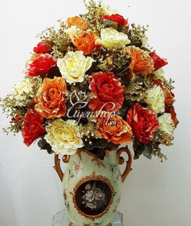 Hoa lụa, hoa giả Uyên shop, Vẻ đẹp Châu Âu Sang Trọng