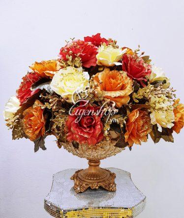 Hoa lụa, hoa giả Uyên shop, Thuyền hoa phong cách Châu Âu