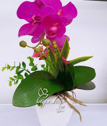 Hoa lụa, hoa giả Uyên shop, Lọ Lan tím xinh