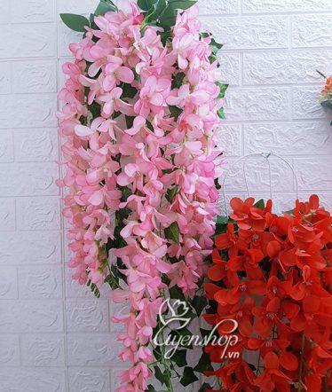 Hoa lụa, hoa giả Uyên shop, Hoa Lan Đỗ Quyên hồng