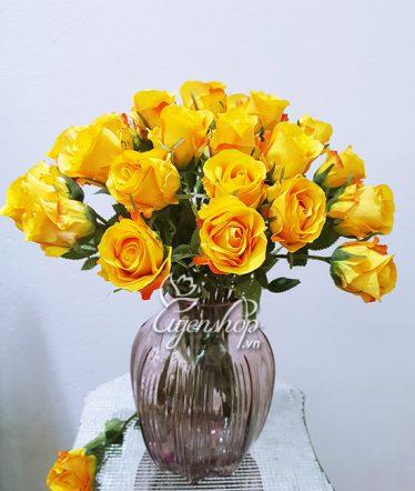 Hoa lụa, hoa giả Uyên shop, Rực rỡ cùng Hồng cam
