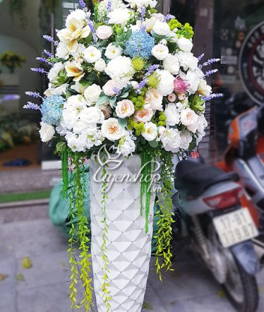 Hoa lụa, hoa giả Uyên shop, Bình Hoa Đại Sảnh