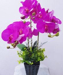Hoa lụa, hoa giả Uyên shop, Bình Lan Tím