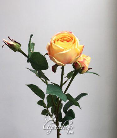 Hoa lụa, hoa giả Uyên shop, Cành Hồng Cao cấp