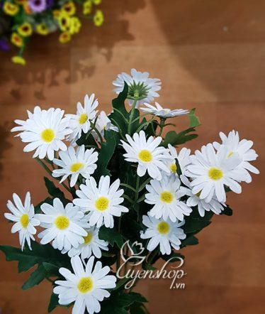 Hoa lụa, hoa giả Uyên shop, Cành Cúc Họa Mi ngắn