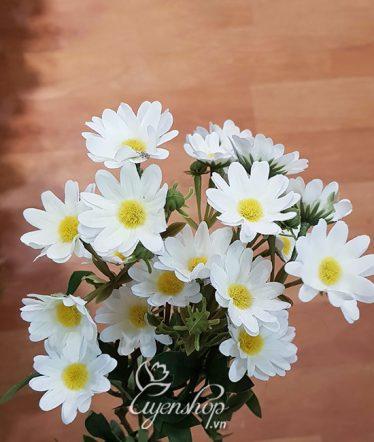 Hoa lụa, hoa giả Uyên shop, Cành Cúc Họa Mi dài