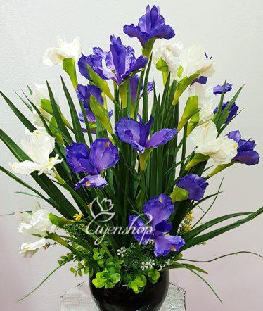 Hoa lụa, hoa giả Uyên shop, Vẻ đẹp Diên Vỹ