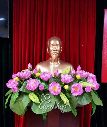 Hoa lụa, hoa giả Uyên shop, Hoa Sen Tượng Bác