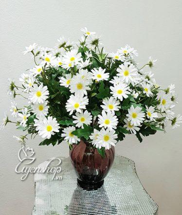 Hoa lụa, hoa giả Uyên shop, Cúc Họa Mi xinh